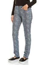 Lara Printed Denim Jean
