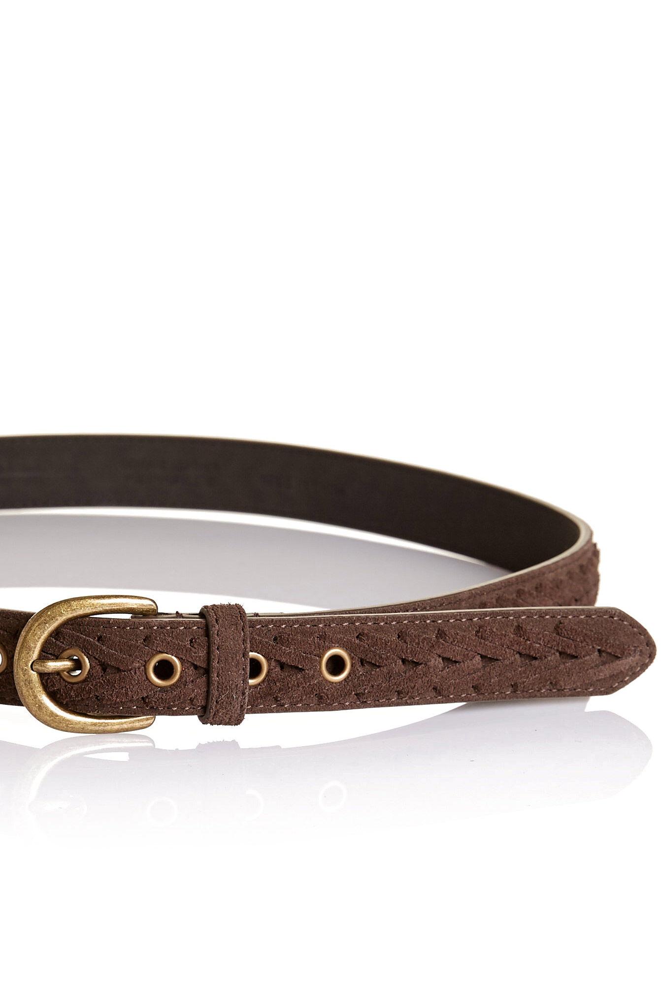 NEW-Sportscraft-WOMENS-Nicole-Plaited-Suede-Belt-Belts
