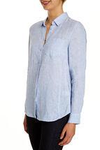 Daisy Crosshatch Linen Shirt