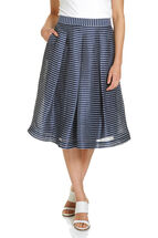Fit And Flare Stripe Skirt