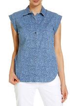 Terri Paisley Denim Shirt