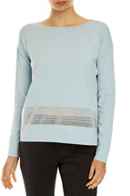 Sheer Insert Knit