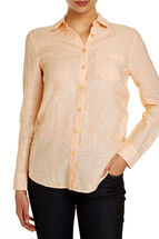 Daisy Crosshatch Linen Shirt
