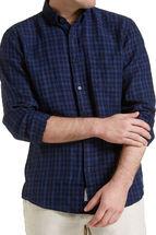 Long Sleeve Linen Check Shirt