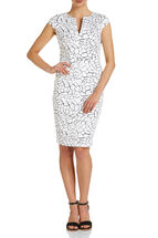 Signature Printed Pencil Dress