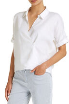 Sophia Wrap Linen Shirt