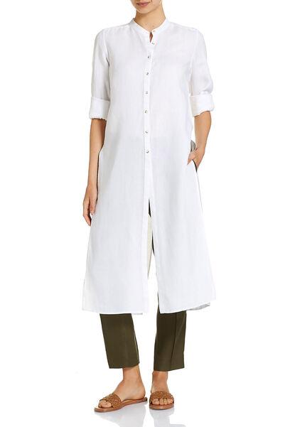 Signature Longline Linen Shirt