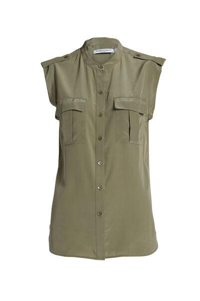 Lora Utility Silk Shirt
