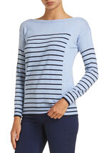 Karen Stripe Boatneck Knit