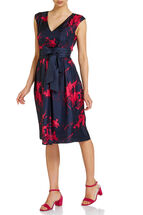 Signature Oriental fit and flare dress