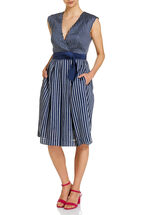 Signature Stripe fit and flare dress