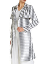 Signature Striped Drape Trench