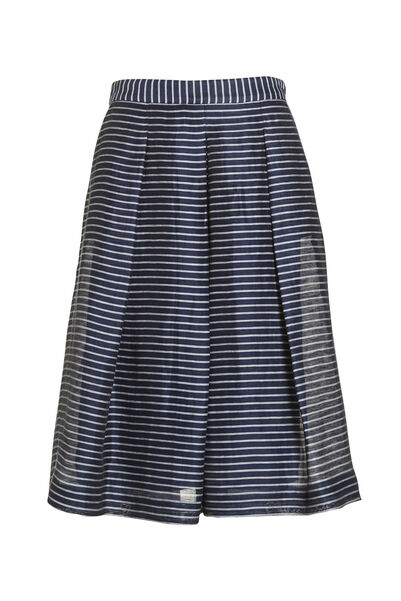 Signature Fit And Flare Stripe Skirt