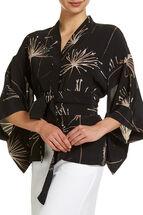 Signature Printed Tie Kimono