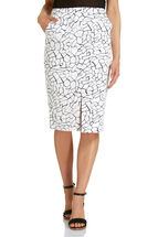 Signature Printed Pencil Skirt