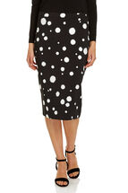 Signature Printed Pencil Skirt