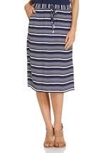 Poppy Stripe Split Skirt