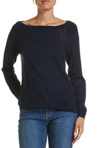 Shirley Pointelle Panel Knit