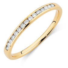 Wedding Band with 0.15 Carat TW of Diamonds in 14ct Yellow Gold