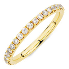 Michael Hill Designer Aria Wedding Band with 1/2 Carat TW of Diamonds in 14kt Yellow Gold