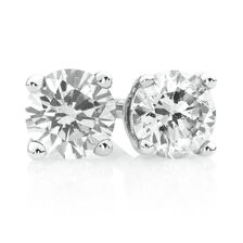Stud Earrings with 1/2 TW of Diamonds in 18ct White Gold