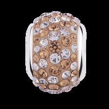 Topaz & White Crystal Charm