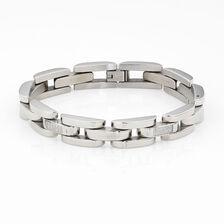 Men's Link Bracelet in Stainless Steel