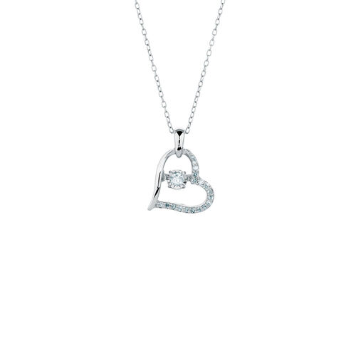 Everlight Pendant with 0.18 Carat TW of Diamonds in Sterling Silver