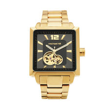 Men's Manual Winding Mechanical Watch in Gold Tone Stainless Steel