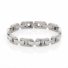 Online Exclusive - Men's Bracelet with 1/3 Carat Total Weight of Diamonds in Stainless Steel