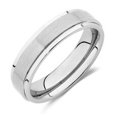 Men's Ring in Grey Tungsten