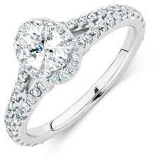 Sir Michael Hill Designer GrandAllegro Engagement Ring with 1.03 Carat TW of Diamonds in 14kt White Gold