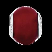 Dark Red Matte Murano Glass Charm