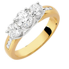 Evermore Engagement Ring with 1 1/2 Carat TW of Diamonds in 18ct Yellow & White Gold