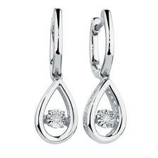 Everlight Earrings with Diamonds in Sterling Silver