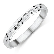 Chevron Patterned Ring in Sterling Silver