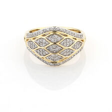 Online Exclusive - Cluster Ring with 1/2 Carat TW of Diamonds in 10ct Yellow Gold