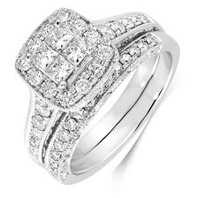 1 Carat TW Diamond Bridal Set