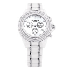 Ladies Watch with 1/2 Carat TW of Diamonds in White Ceramic & Stainless Steel