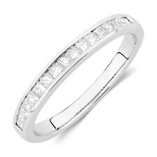 Wedding Band with 3/8 Carat TW of Diamonds in 14ct White Gold