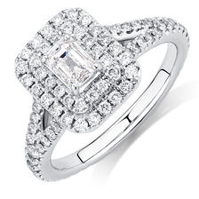Sir Michael Hill Designer GrandArpeggio Engagement Ring with 1 1/2 Carat TW of Diamonds in 14ct White Gold