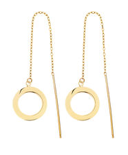 Circle Thread Earrings in 10kt Yellow Gold