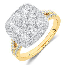 Engagement Ring with 1.5 Carat TW of Diamonds in 10ct Yellow & White Gold