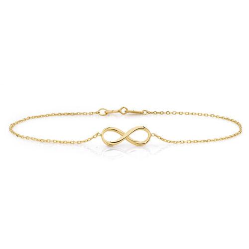 Infinity Bracelet in 10ct Yellow Gold
