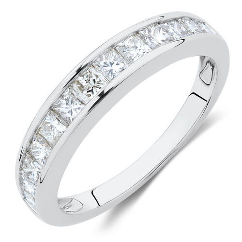 Wedding Band with 1 Carat TW of Diamonds in 10kt White Gold