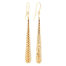 Tapered Drop Earrings in 10ct Yellow Gold