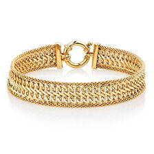 "Online Exclusive - 19cm (7.5"") Bolt Bracelet in 10ct Yellow Gold"