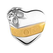 Diamond Set 'Mom' Charm