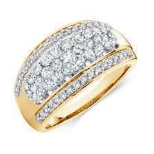 Online Exclusive - Ring with 1 Carat TW of Diamonds in 10ct Yellow Gold