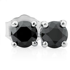 City Lights Stud Earrings with 1/2 Carat TW of Enhanced Black Diamonds in 10kt White Gold